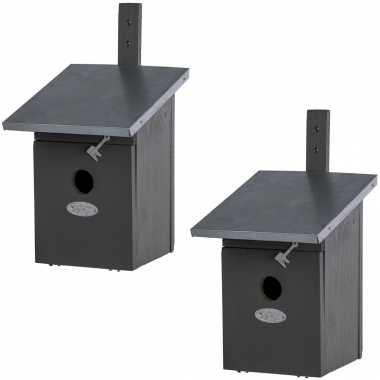 2x vogelhuisjes/vogelhuisjes koolmees 33 cm