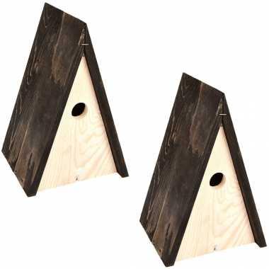 2x vogelhuisjes/vogelhuisjes wigwam 27,5 cm