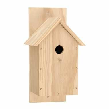 Bouw je eigen houten vogelhuisje pakket