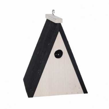 Driehoekig vogelhuisje hout 18 cm