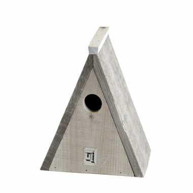 Driekhoek vogelhuisje 23 cm