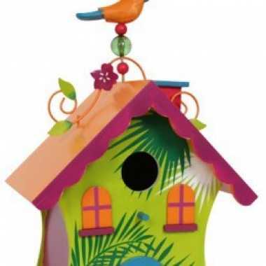 Fel gekleurd vogelhuisje tropisch