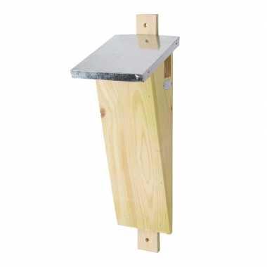 Houten vogelhuisje/nesthuisje 41 cm voor boomkruiper