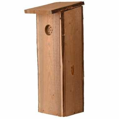 Houten vogelhuisje/nesthuisje 54 cm voor specht