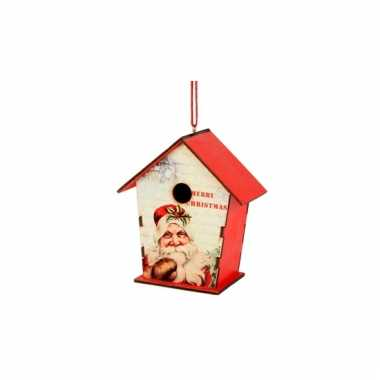 Kerstboom hanger vogelhuisje 10 cm