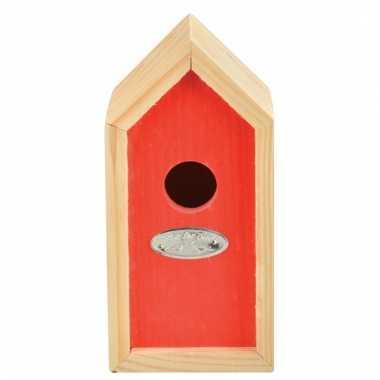 Rood vogelhuisje 10 x 11 x 20 cm