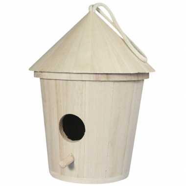 Set van 3x stuks houten vogelhuisjes van 16 cm