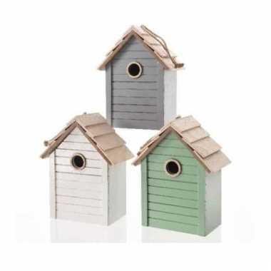 Vogelhuisje met hanger groen