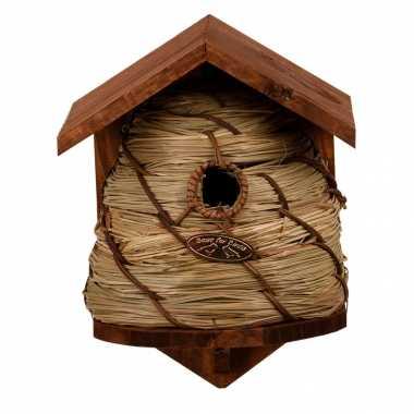 Vogelhuisje/vogelhuisje bijenkorf 25.8 cm