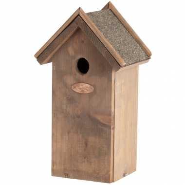 Vogelhuisje/vogelhuisje koolmees bitumen dak 31,5 cm