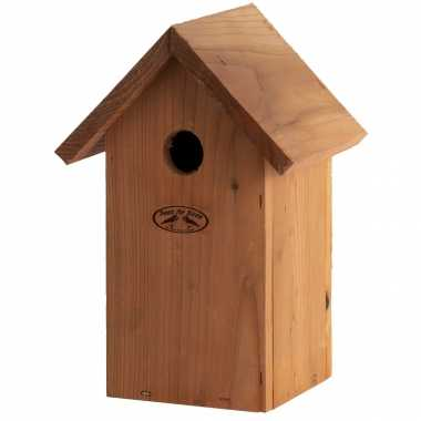 Vogelhuisje/vogelhuisje pimpelmees / pimpelmeesjes 25.7 cm