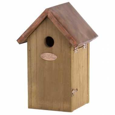 Vogelhuisje/vogelhuisje pimpelmees/pimpelmeesjes 25.8 cm