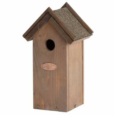 Vogelhuisje/vogelhuisje pimpelmees/pimpelmeesjes met bitumen dakje 27