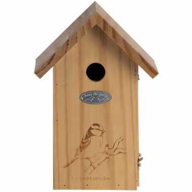 Vogelhuisje/vogelhuisje pimpelmees silhouet 26 cm