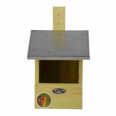 Vogelhuisje/vogelhuisje voor grote roodborst 33.3 cm