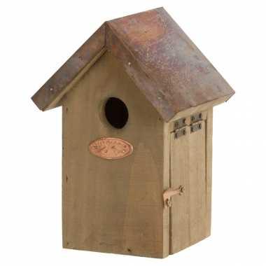 Vogelhuisje/vogelhuisje winterkoning 20 cm