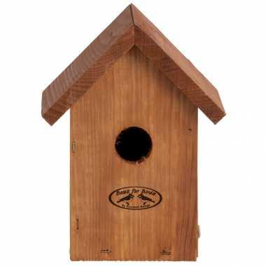 Vogelhuisje/vogelhuisje winterkoning douglas hout 19.8 cm