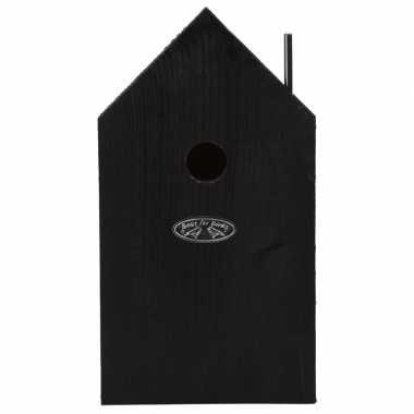 Vogelhuisje/vogelhuisje winterkoning zwart 21 cm