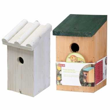 Vogelhuisjes/vogelshuisjes set van 2x stuks voor tuinvogels
