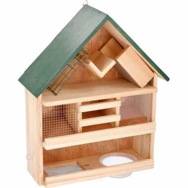Vogelvoederhuis / vogelhuisje 44 x 39 x 13 cm