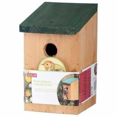 Voordeelset van 10x stuks vogelhuisjes houten vogelhuisjes 22 cm