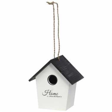 Wit vogelhuisje 16 x 12 x 17 5 cm