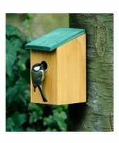 Houten nestkast 22 cm vogelhuisje